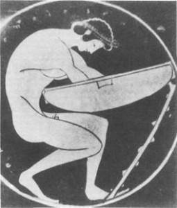 Badender Jüngling - Schale im Nationalmuseum Athen.