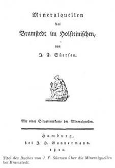 Titel des Buches von J.F. Süersen über die Mineralquellen bei Bramstedt