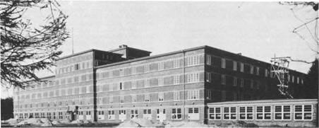 Die nahezu fertige Rheumaheilstätte, die im Herbst 1930 vollendet war . Der erste Patient wurde am 1. Februar 1931 aufgenommen.