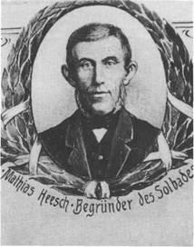 Matthias Heesch - Begründer des Solbades Bramstedt. Er leitete 1879 die entscheidende, vierte Phase für den Kurort ein.