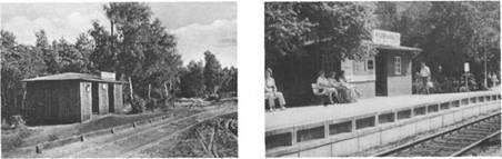 Die Kurhaus-Haltestelle der Altona-Kaltenkirchener Eisenbahn (AKN) vor rund 50 Jahren. Immer war die AKN für den Antransport der Kurgäste wichtig. Verbilligte Fahrkarten gab die AKN für die Strecke Hamburg- Bad Bramstedt heraus.