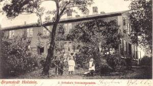 Behnckes Hofstelle auf dem Schäferberg - später Martens - heute Reihenhäuser