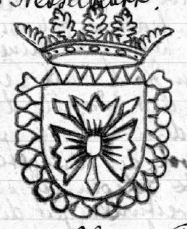 Das Wappen von Bramstedt ist ein gekröntes Holsteinisches Nesselblatt: