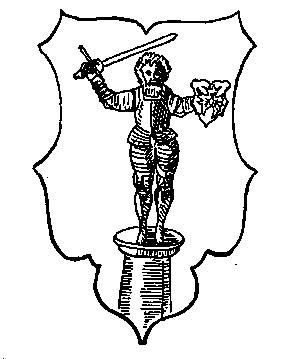 1. Das alte Wappen der Stadt Wedel nach Andreas Angelus (1597),