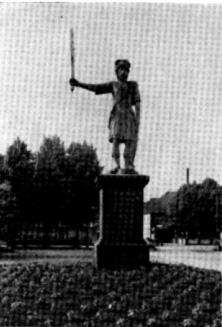 3. Der Bramstedter Roland nach seiner Wiederherstellung; 1827.