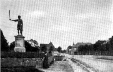 5. Der Marktplatz in Rad Bramstedt im vorigen Jahrhundert.