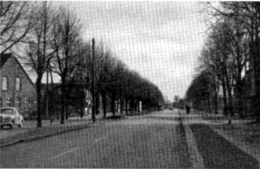 """8. Die alte Heerstraße in Bramstedt, heute """"Butendoor"""" genannt."""