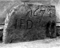 """9. Der Stein am Hause """"Rolandseck""""."""
