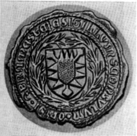 10. Das alte Bramstedter Wappensiegel.